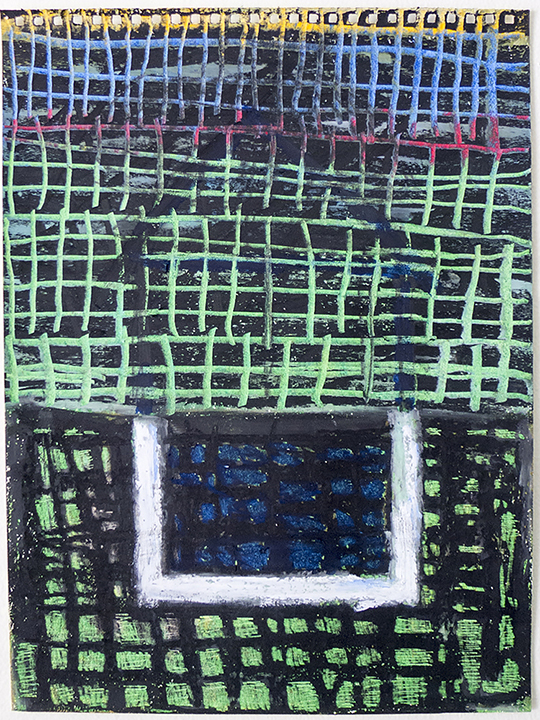 oil pastel on paper 12 x 9 in / 30.5 x 23 cm