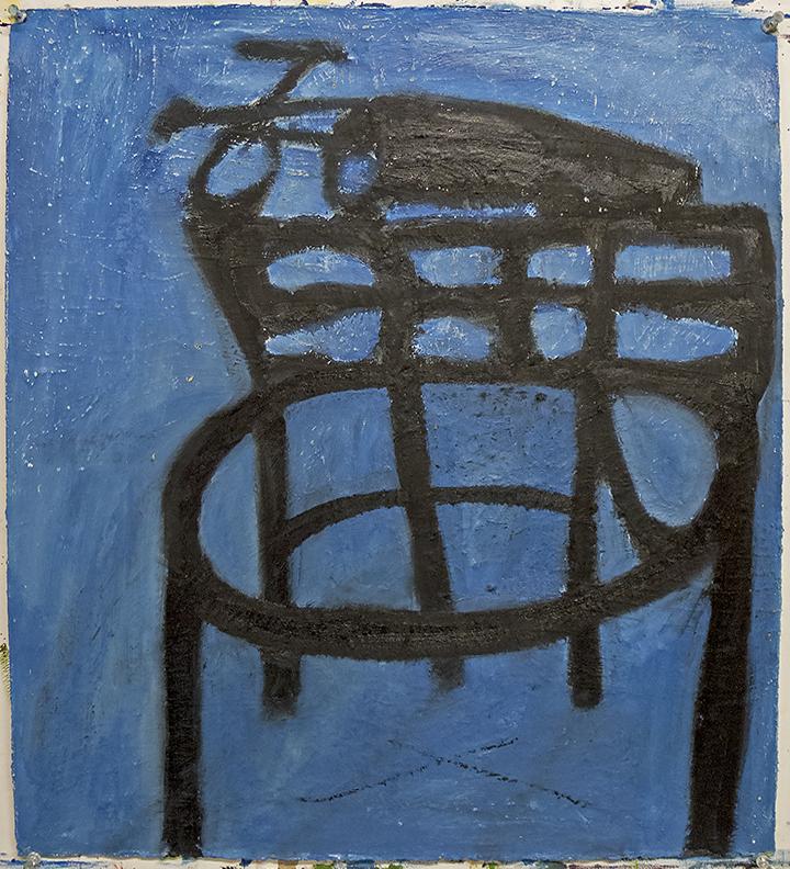 oil on paper 22 x 20 in / 56 x 51 cm