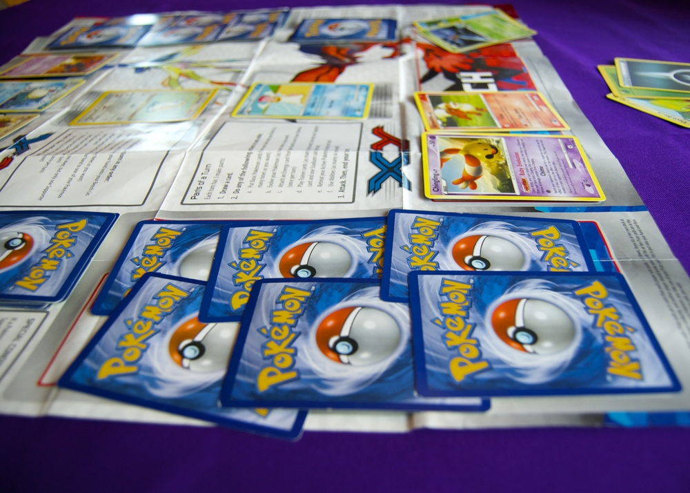 We love playing the Pokemon card game on the weekends!