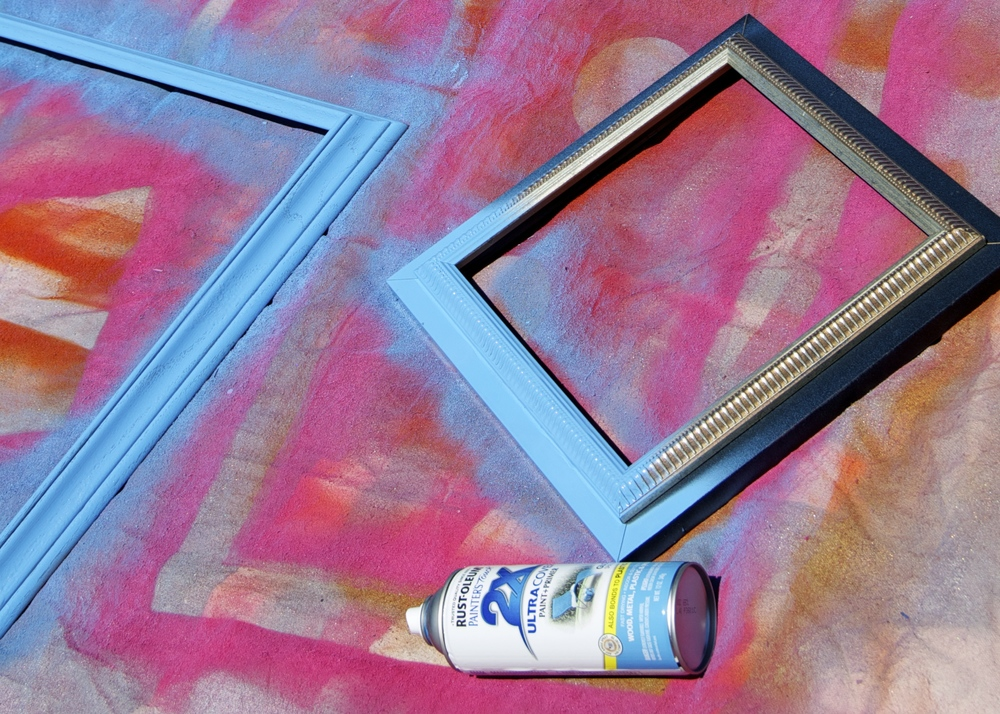 Aqua is my favorite color to use on frames and other items I paint.  It coordinates with pink or purple for a more girly party or red or orange for a more boyish party. I use frames this color (including with chalkboards) for almost every party!