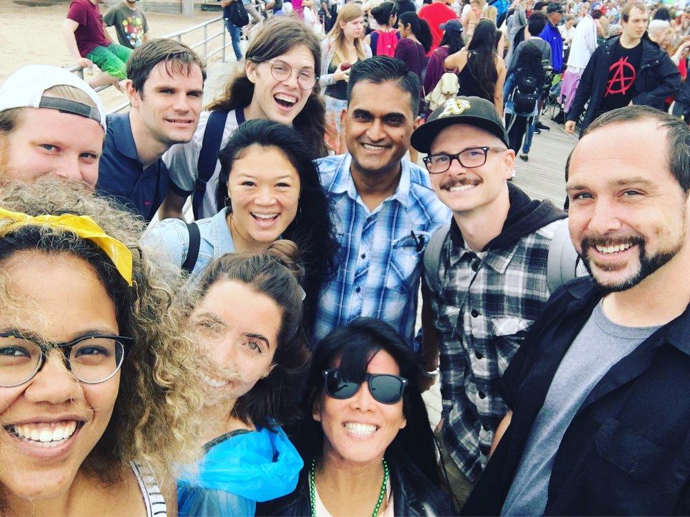 Group at the Mermaid Parade!