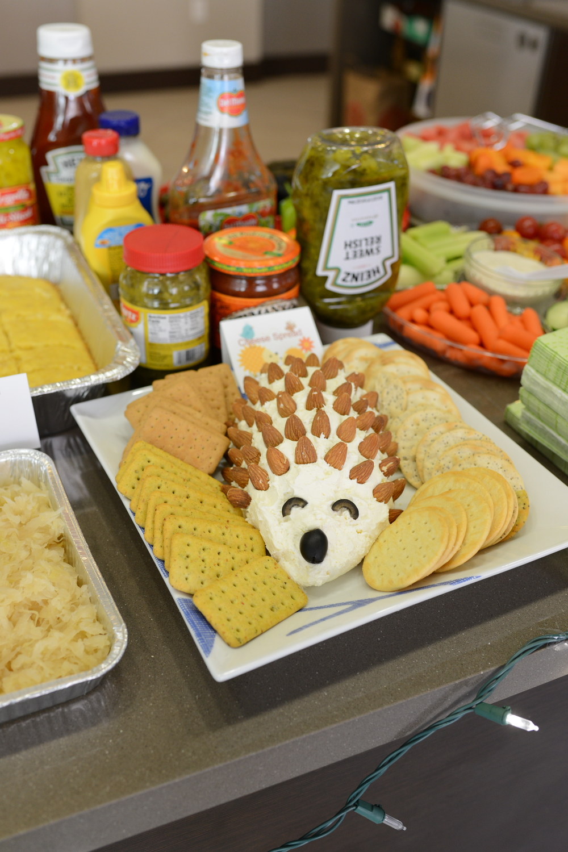 Yayu did amazing and made a cream cheese hedgehog!!