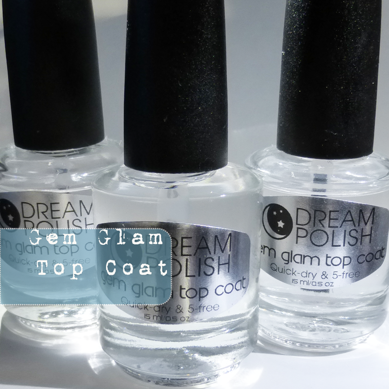 Gia from Agent 00 Nails blog reviews our Gem Glam Top Coat and many of our scents