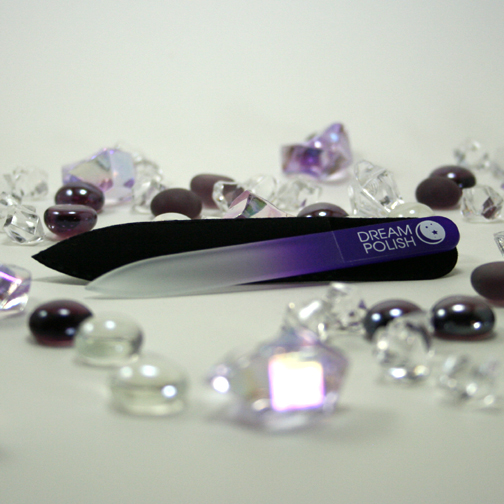 crystal glass nail file