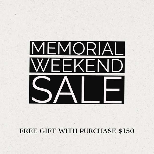 25% OFF EVERYTHING! c o d e: MEMORIAL18 - - - - - - - - Orders above $150+ will receive a FREE GIFT 💥 We will send you an email after purchase with all the options. - Sale ends: Monday at 12AM 🕛  #memorialsale #sale #free #gift