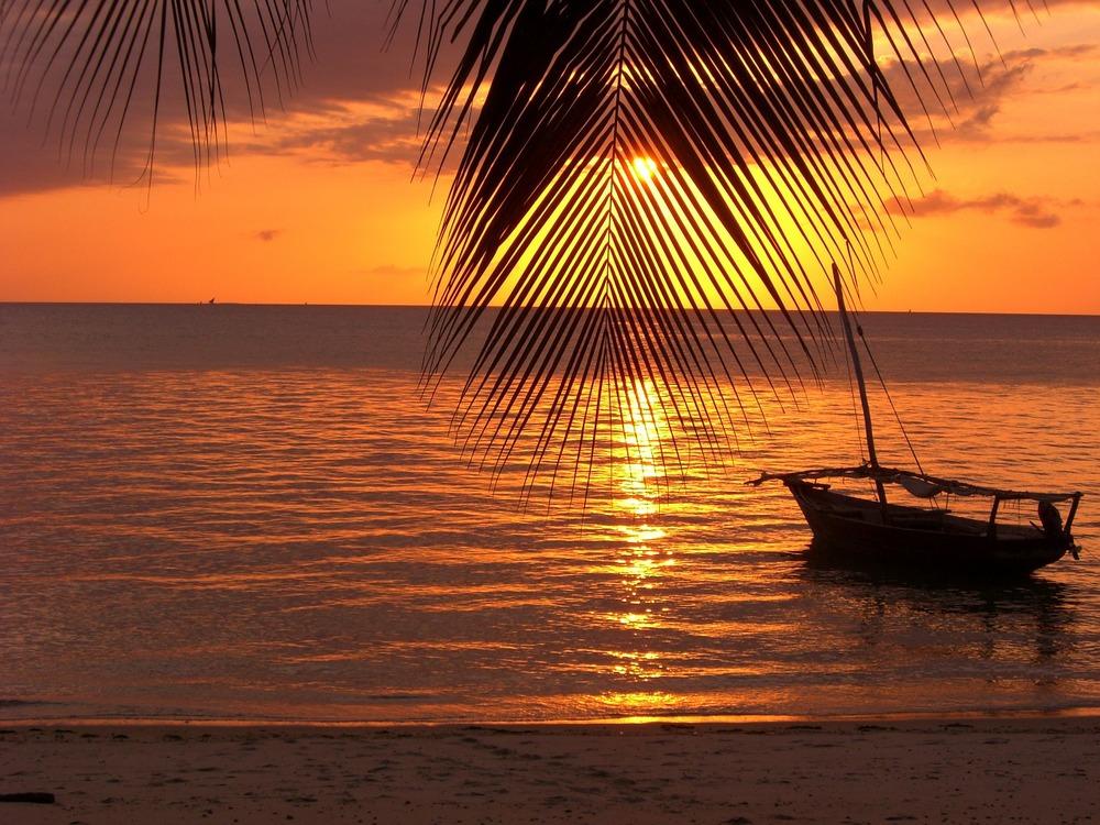Breathtaking Sunset in Zanzibar.