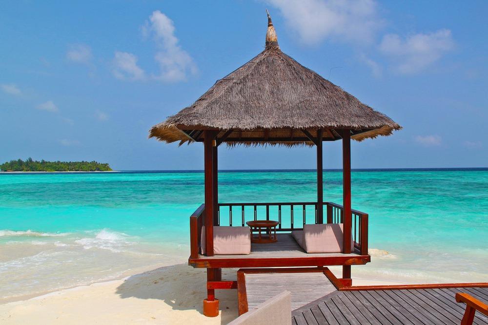 Beach Hut in Maldives.
