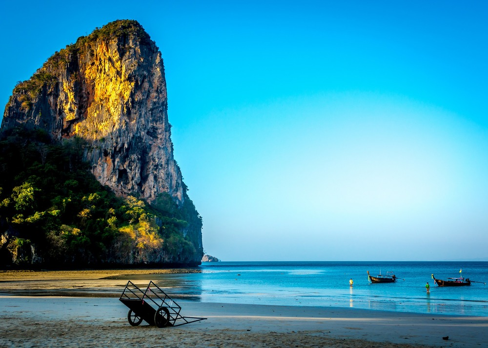 Relaxation on a Beach in Thailand.