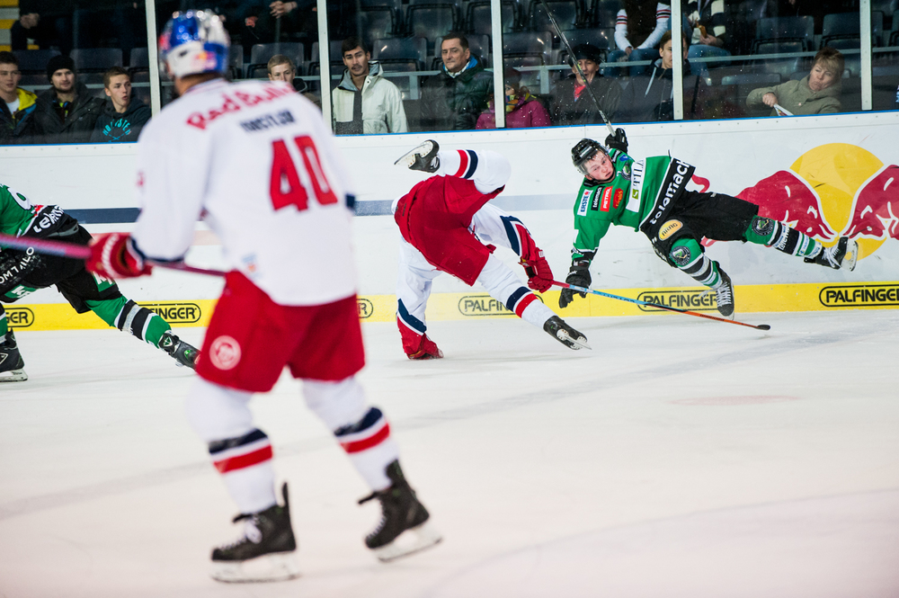 EBEL match between EC Red Bull Salzburg and HDD Olimpija Ljubljana in Salzburg, Austria on November 23rd, 2014