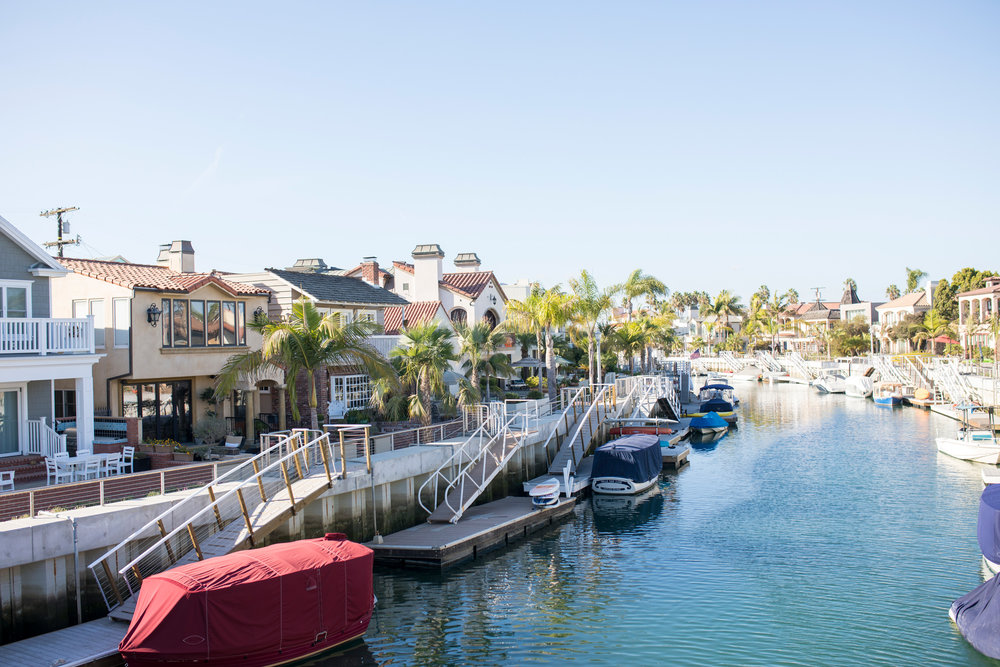 Naples near Long beach, beautiful canals, America
