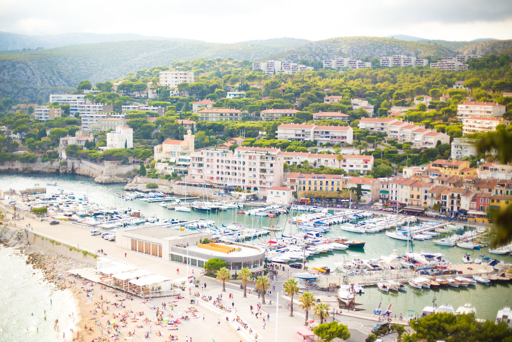 Travel photographer south of France cassis