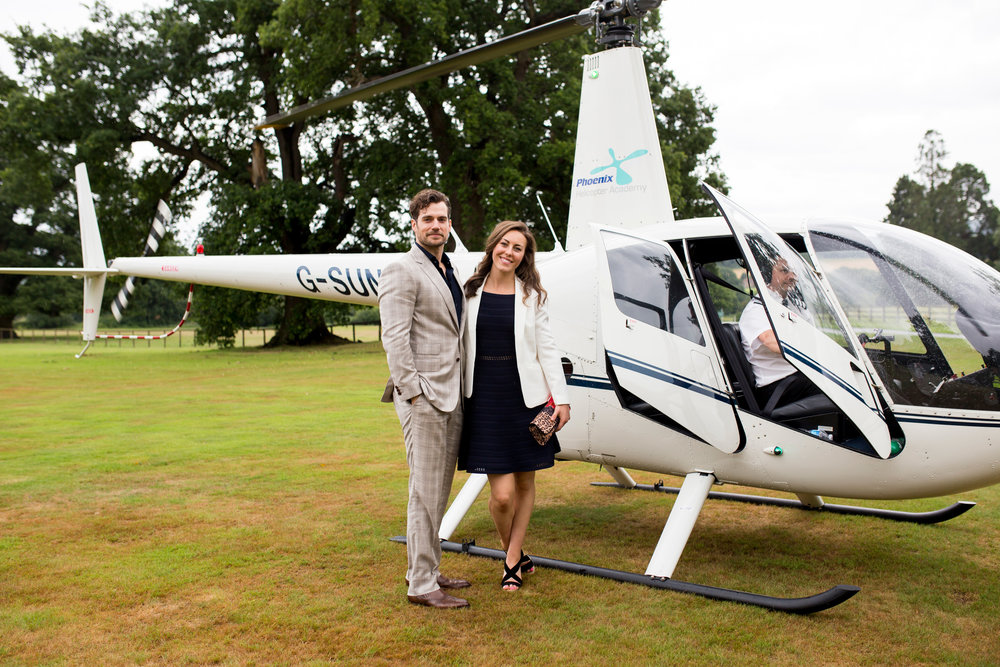 private helicopter flight at Cowdray house