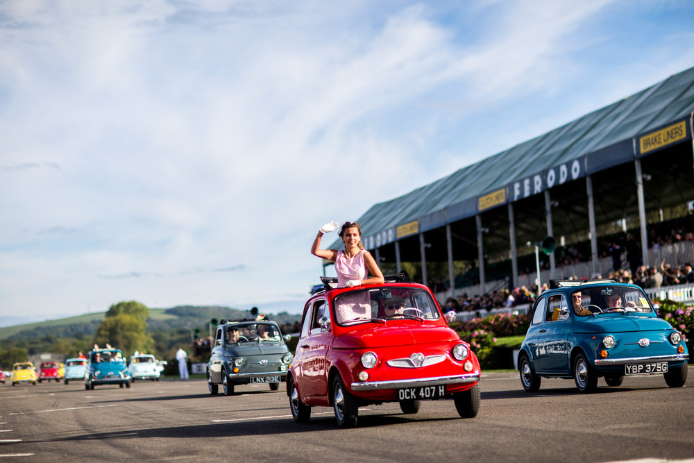 fiat 500 celebration automotive photograph at Goodwood chichester