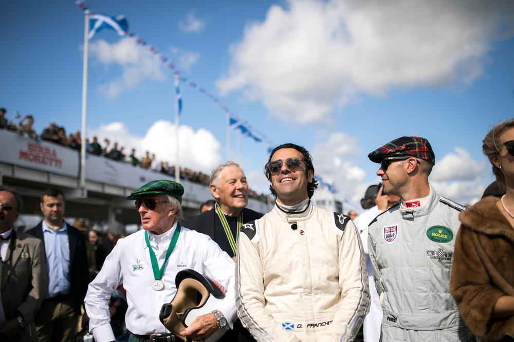 Dario Franchitti, Jackie Stewart and other racing drivers