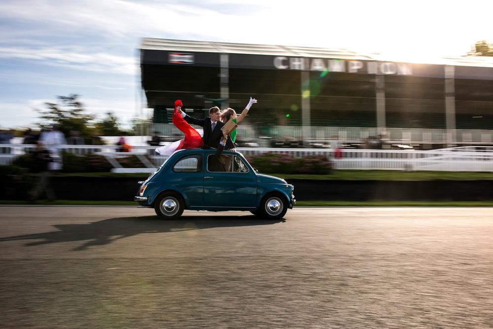 Fiat 500 round motor circuit