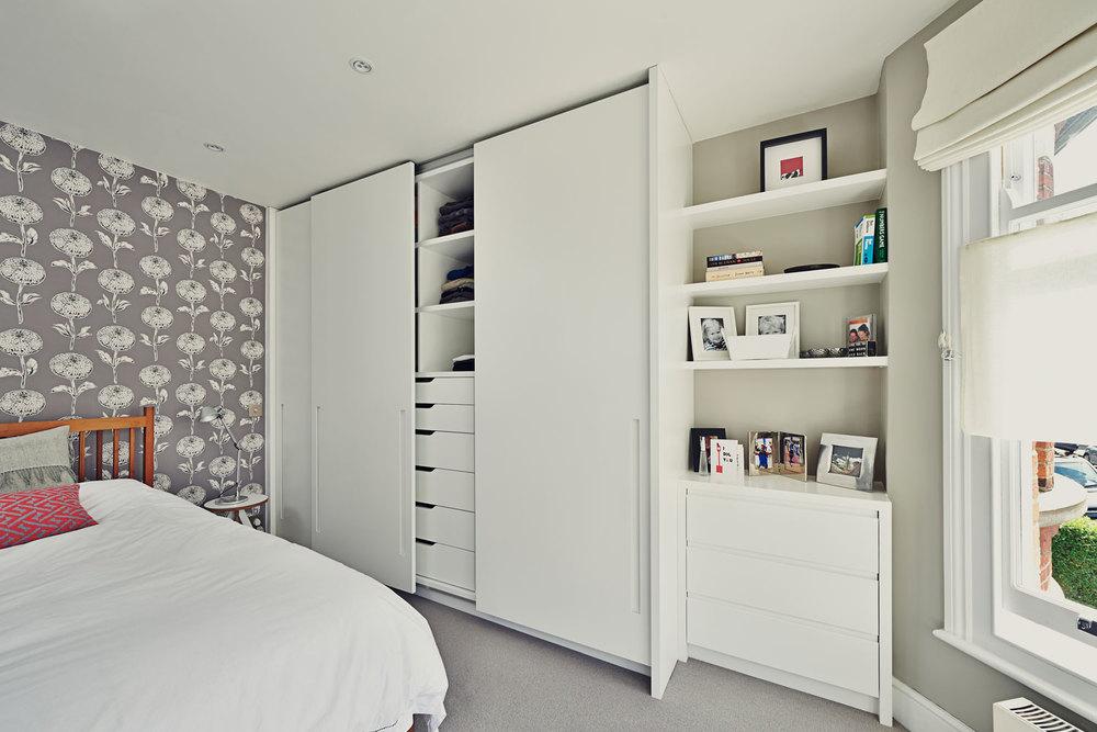 Haverhill Road – a sliding door wardrobe with recessed handles