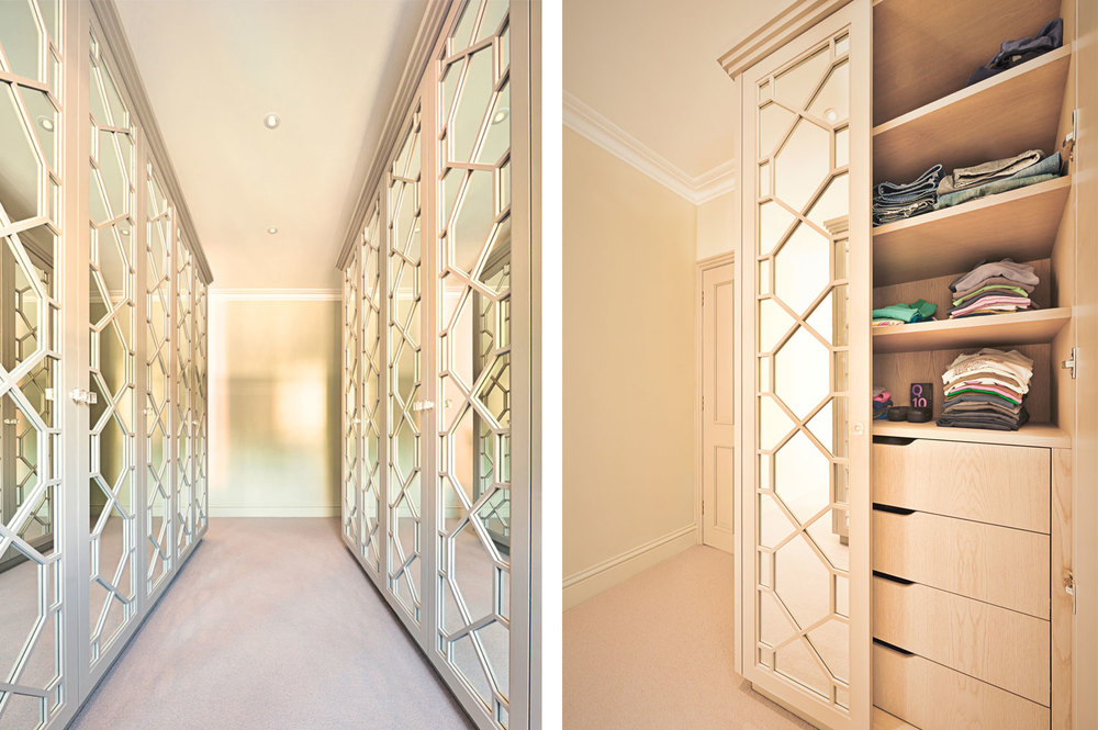 Crescent Road \u2013 master wardrobes with fretwork doors & Bedrooms \u2014 Spraysmith