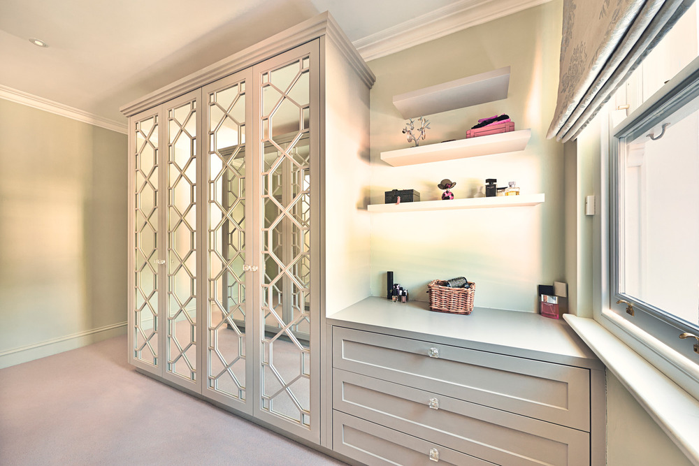 Crescent Road – master wardrobes with fretwork doors