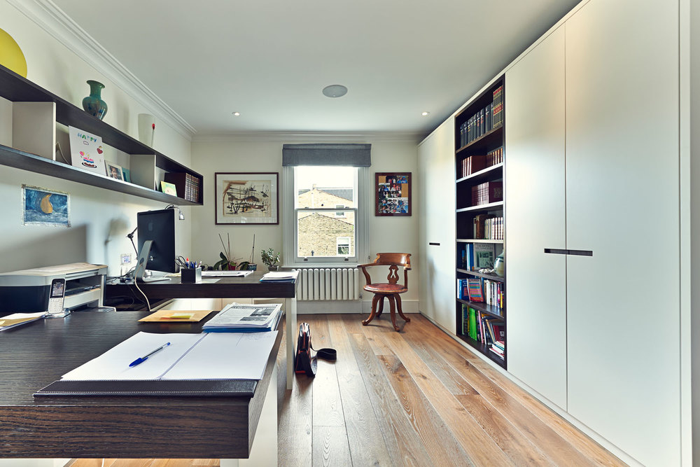 Shellgate Road – modern study room concept with smoked oak tops