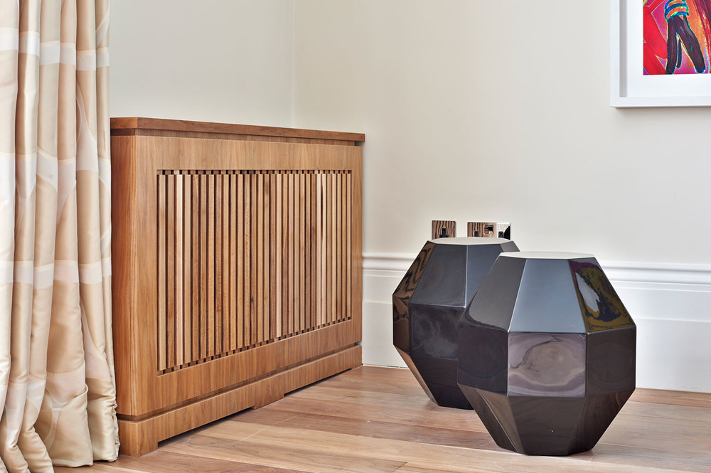 Thurloe Square – a radiator cover made from solid walnut