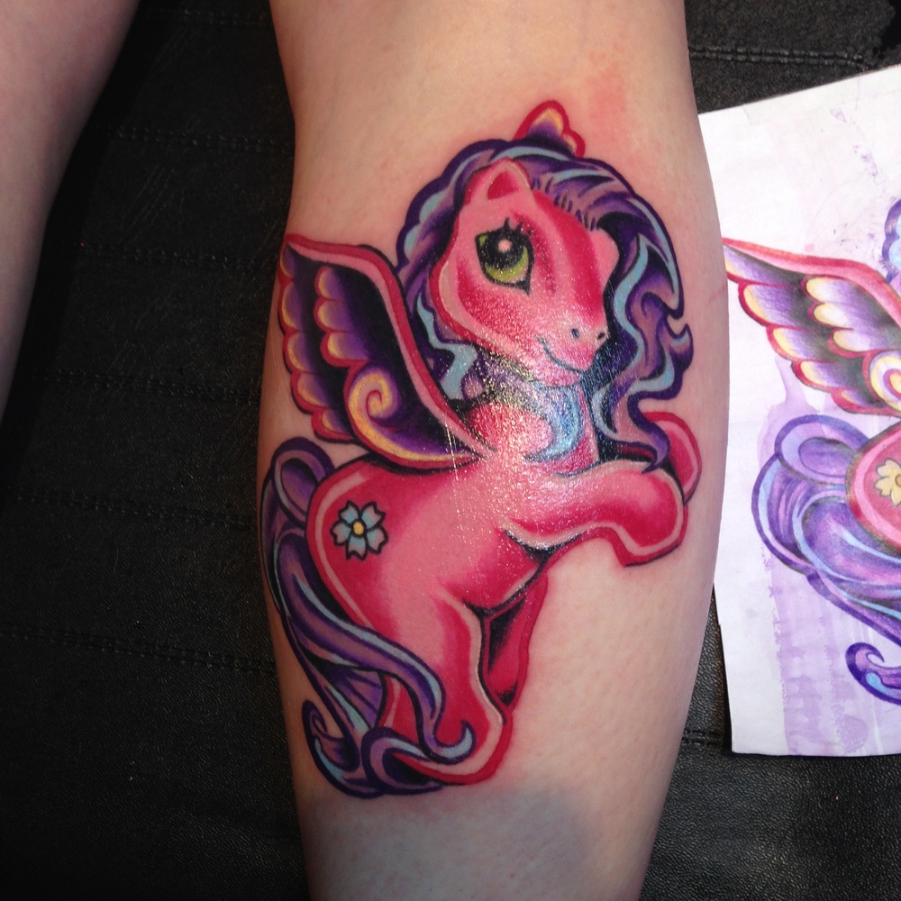 My little pony colour tattoo by Mel Hanson