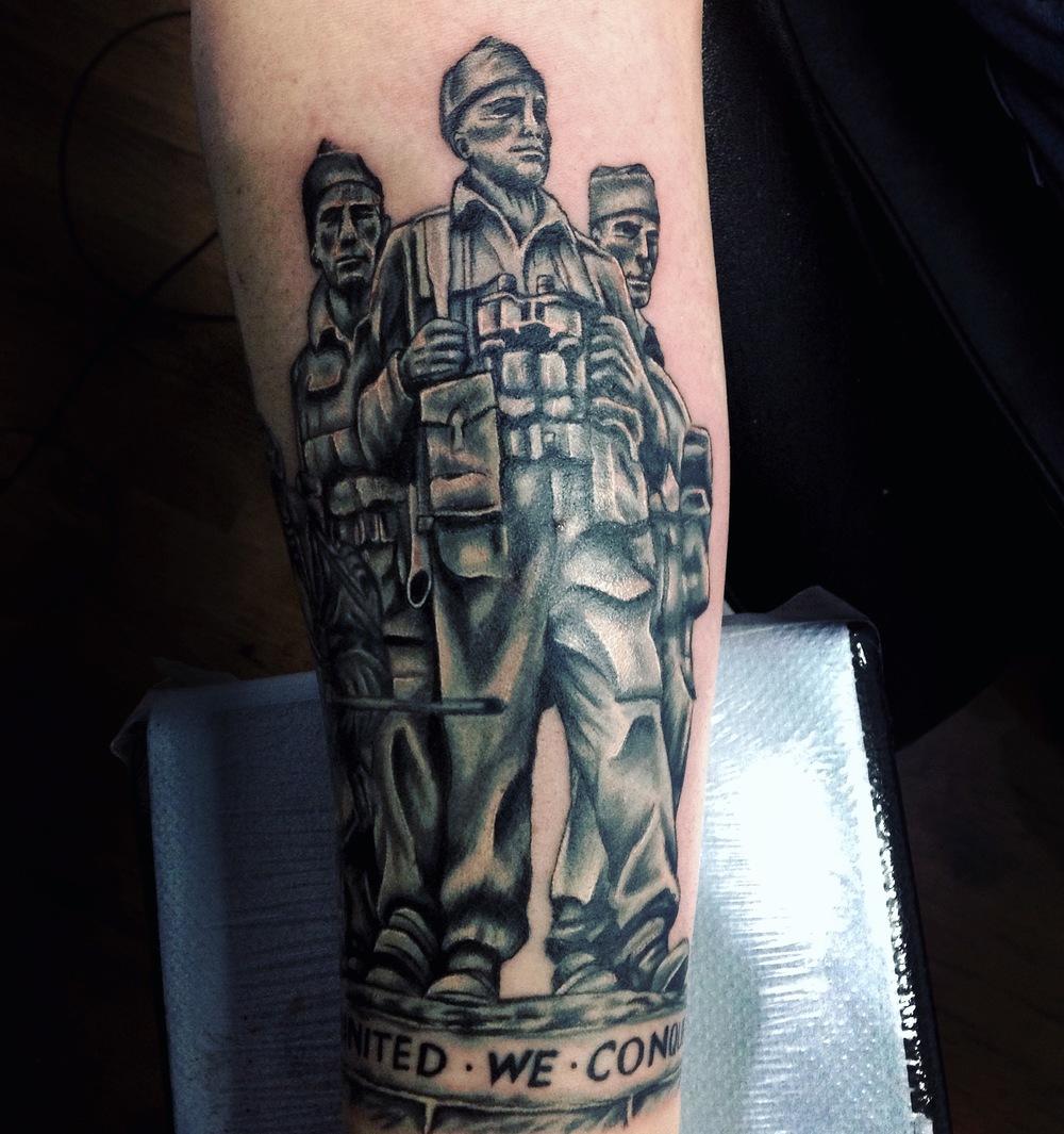 british royal marines statue tattoo