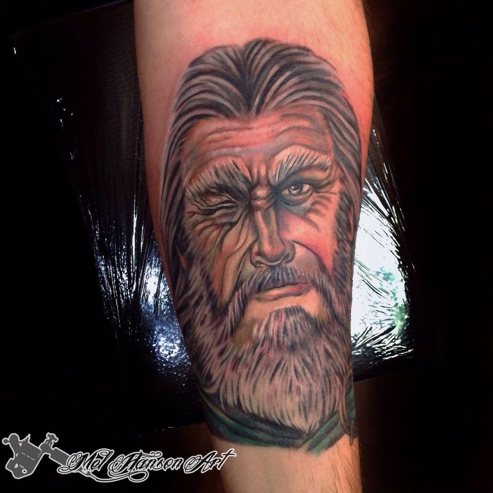 God Odin Viking Colour Realism Portrait Tattoo by Mel Hanson
