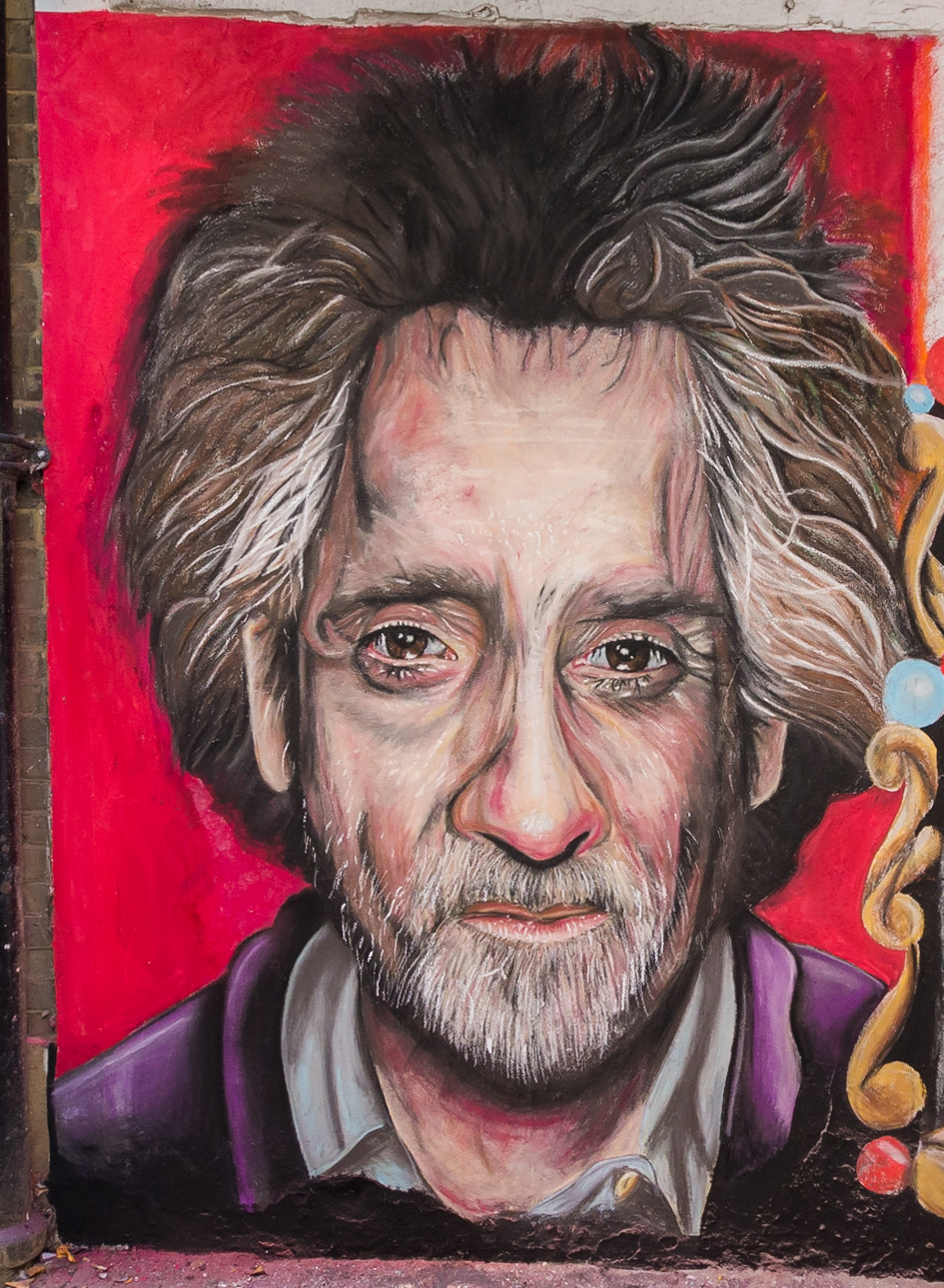 To finish of the mural we decided to add an image of Tim Burton himself. This piece is over 8 foot tall and adds a nice finish to 3 years of work.