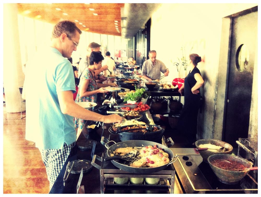 Restaurante en la bienal