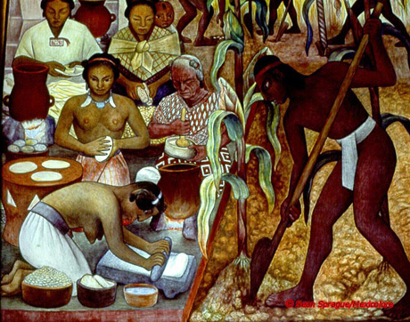 The corn is america travel around the hob for Mural de rivera