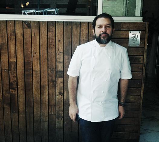 Enrique Olvera at his restaurant in Mexico City, Pujol
