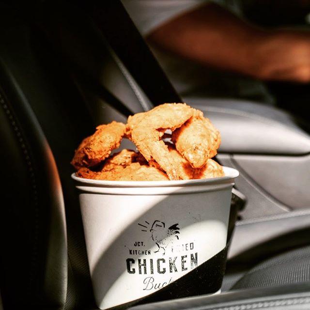 I don't always let my food ride shotgun... but fried chicken gets the VIP treatment 😜🍗#lexuschef #lexusff