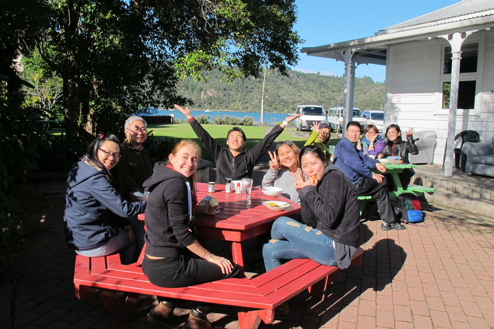 This group of students was enjoying having lunch outside on the shortest day of the year. This is the sort of wonderful weather we can get in the middle of winter.