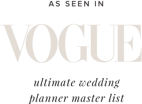 As seen in Vogue Ultimate Wedding Planner Master List