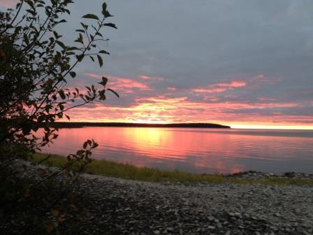 Rock Island sunset