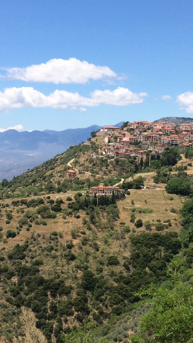Arachova (on the way to Delphi). Literally stopped me in my tracks with its beauty.