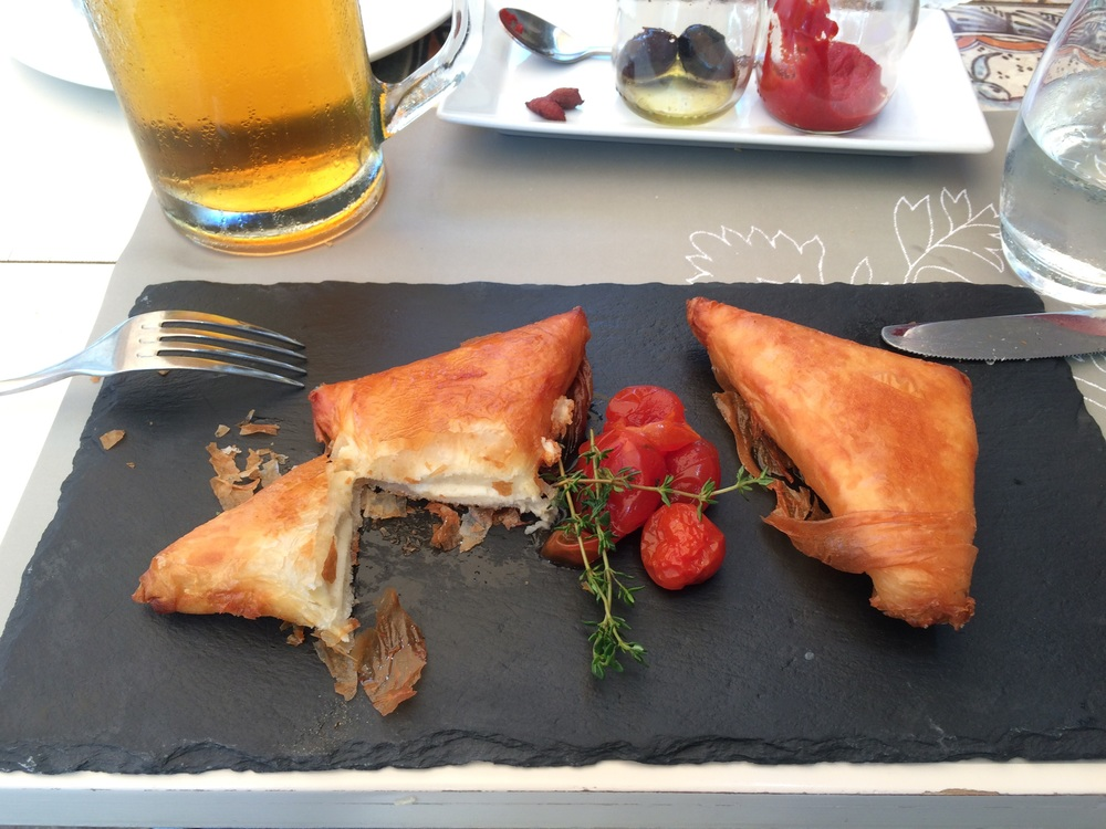 Fried cheese wrapped in filo? Yes, please, forever.