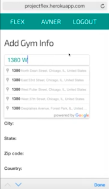 Search for and add your gym.