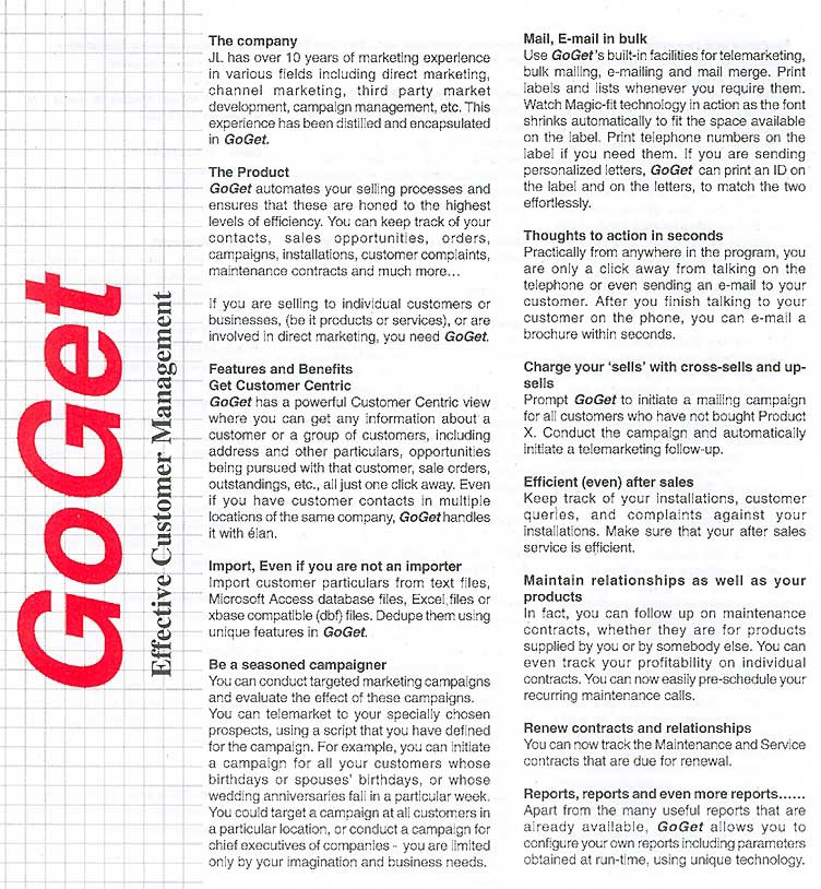 GoGet - A CRM