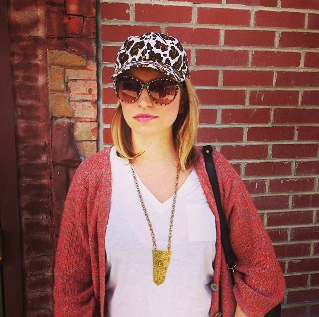 Hat and Sunglasses, get here and here (get Lila Rice necklace here)