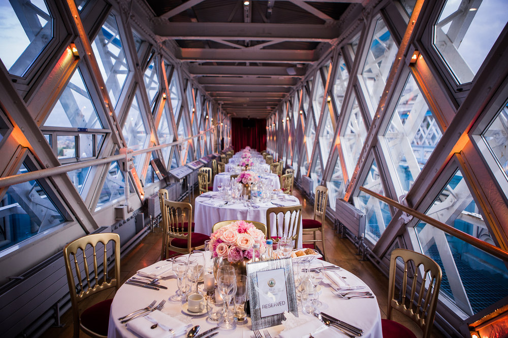 The events space at the top of Tower Bridge