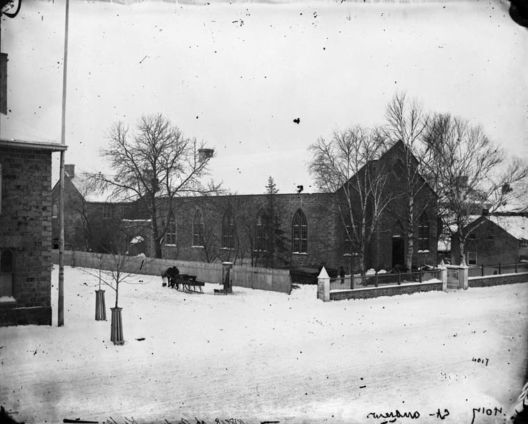 Previous church building. William James Topley/Library and Archives Canada/PA-009220