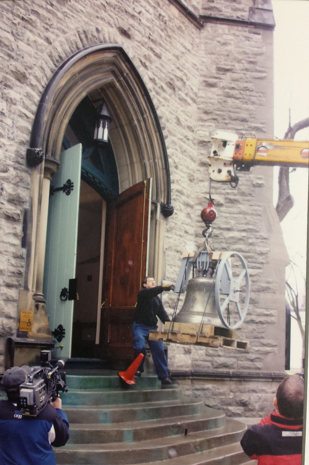 Installation of the church bell, May 2005