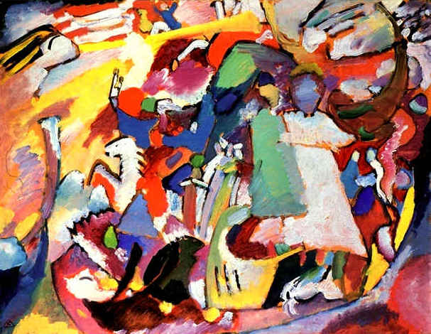 All Saints Day I.  Wassily Kandinsky, 1911. Lenbachhaus Gallery, Munich