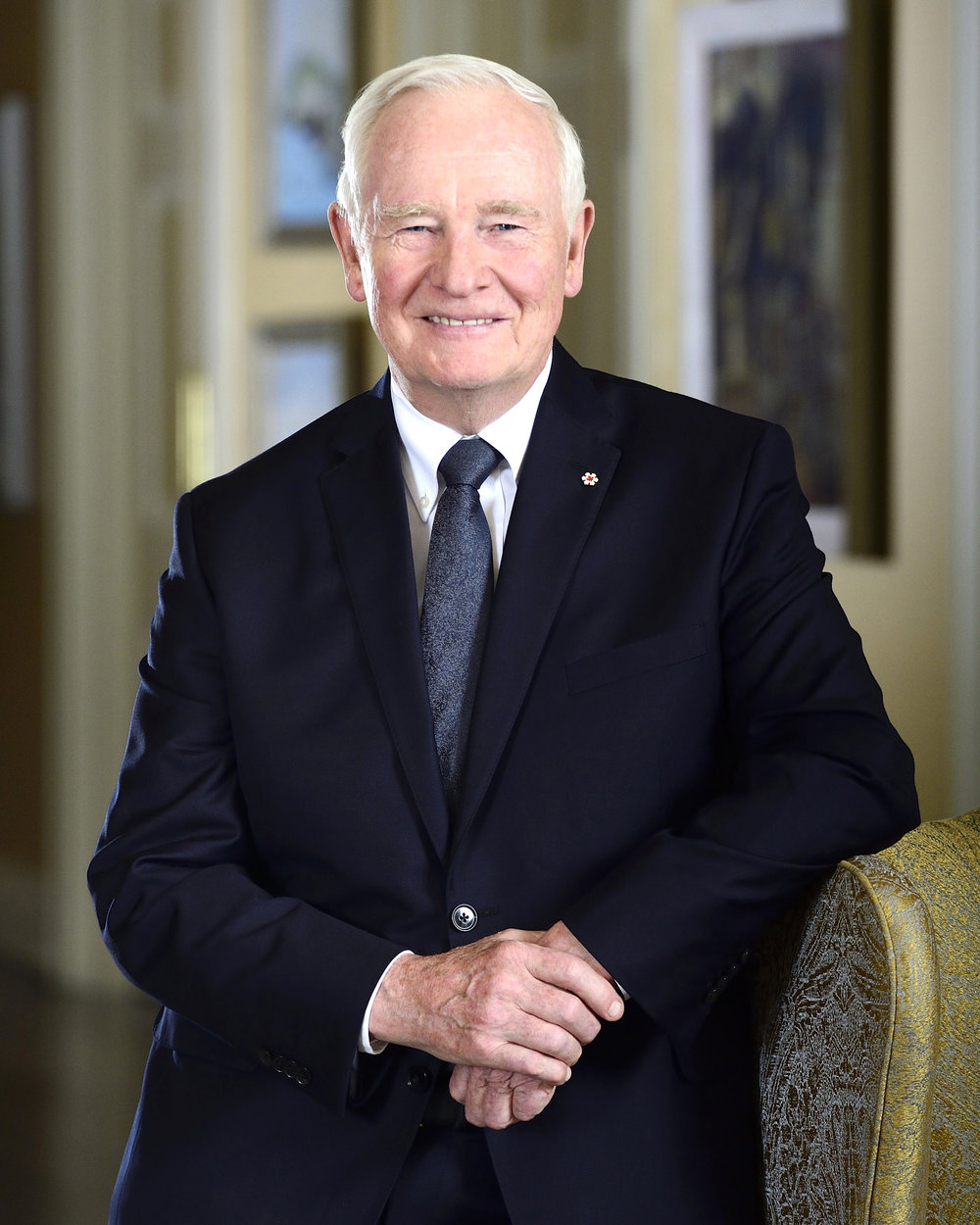 His Excellency the Right Honourable David Johnston, C.C., C.M.M., C.O.M., C.D., Governor General and Commander-in-Chief of Canada Photo by: Sgt Ronald Duchesne, Rideau Hall © Her Majesty The Queen in Right of Canada represented by the Office of the Secretary to the Governor General, 2015