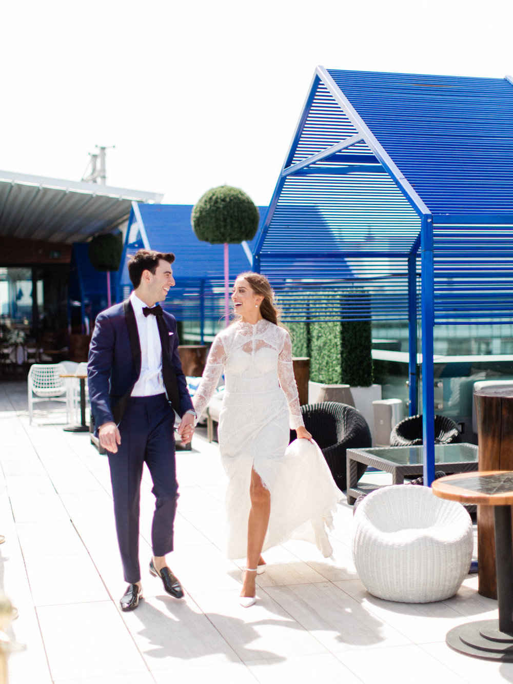 Toronto Documentary Wedding Photographer Modern Rooftop Wedding at Lavelle