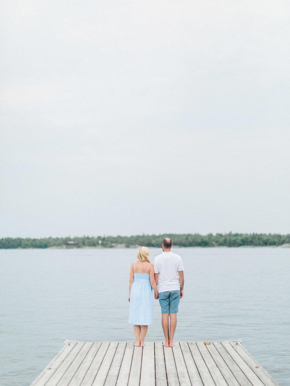 Toronto Wedding Photographer Engagement Photographs at a Georgian Bay Island Cottage