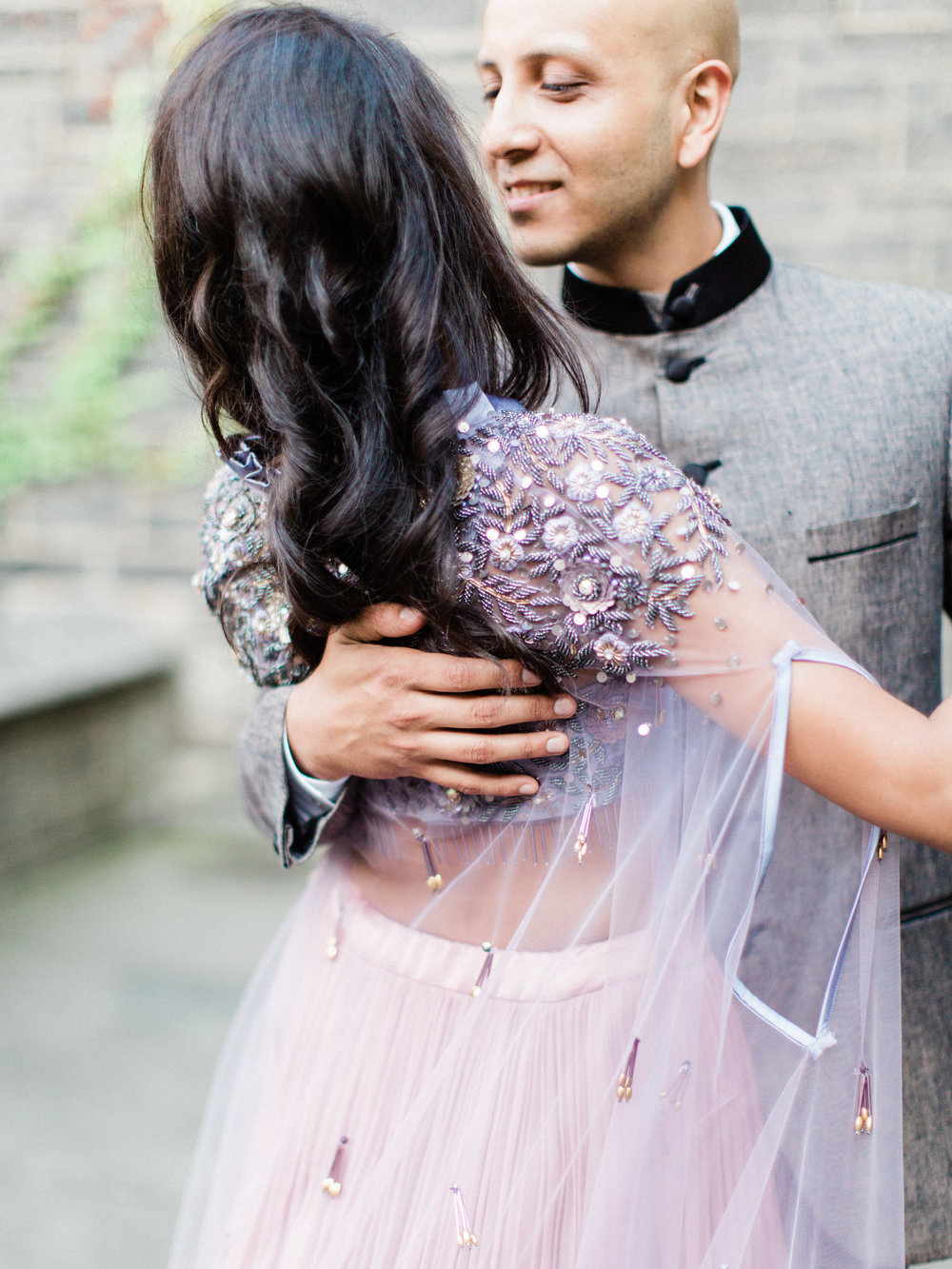 colourful indian engagement photographs at the university of toronto