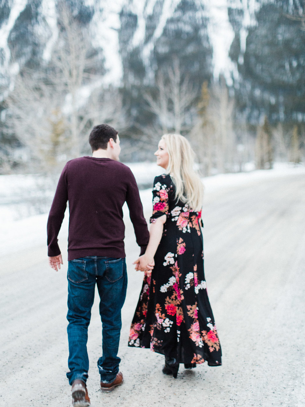 Rocky Mountain adventure engagement session