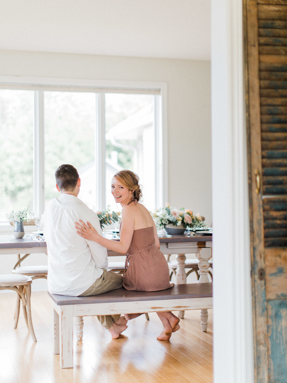 Collingwood Toronto Wedding Photographer At Home Engagement Session